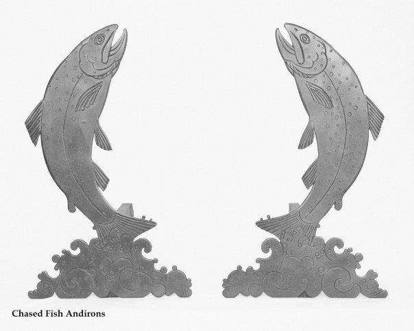Fish andirons